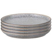 Denby Studio Grey Medium Coupe Plate (Set of 4)
