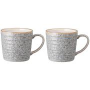 Denby Studio Grey Ridged Mug (Set of 2)