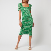 Hope & Ivy Women's The Carrie Made with Liberty Fabric - Tonal Green