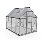 Palram - Canopia Hybrid 6x8ft Greenhouse - Silver