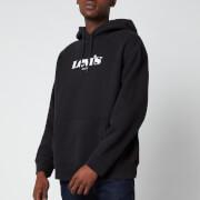 Levi's Men's Relaxed Graphic Fleece Hoodie - Caviar Black