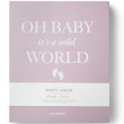 Printworks Baby it's a Wild World Photo Album Book - Pink