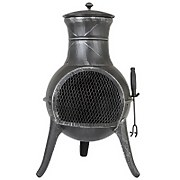 La Hacienda Clifton Steel Chimenea - Pewter