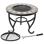 La Hacienda Naxos Fire Pit with Mosaic Surround