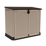 Keter Store It Out Midi Outdoor Plastic Garden Storage Box - 880L - Beige / Brown