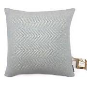 Country Living Wool Herringbone Cushion - 50x50cm - Duck Egg