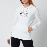 Emporio Armani EA7 Women's Train Shiny Hoodie - White/Black