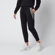 Emporio Armani EA7 Women's Train Shiny Pants Extended Logo - Black/Light Gold
