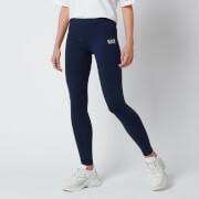 Emporio Armani EA7 Women's Train Shiny Leggings - Blue Navy/White