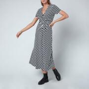 Tommy Hilfiger Women's Viscose Midi Wrap Dress - Breton Stripe/Desert Sky