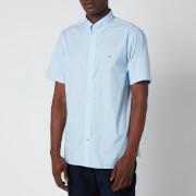 Tommy Hilfiger Men's Soft Poplin Short Sleeve Shirt - Copenhagen Blue