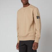 Calvin Klein Jeans Men's Organic Cotton Badge Sweatshirt - Beige