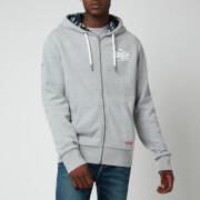 Superdry Men's Vintage Logo Hood Print Hoodie - Grey Marl
