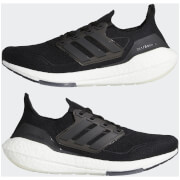 adidas Ultra Boost 21 Running Shoes - Core Black/Core Black/Grey Four