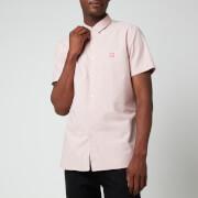 BOSS Casual Men's Logo Patch Slim Fit Short Sleeve Shirt - Pastel Pink