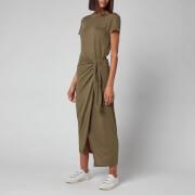 Polo Ralph Lauren Women's T-Shirt Tie Up Wrap Dress - Basic Olive