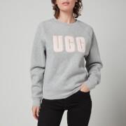 UGG Women's Madeline Fuzzy Logo Crewneck Sweatshirt - Grey/Sonora