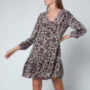 Whistles Women's Clouded Leopard Print Collar Dress - Leopard Print