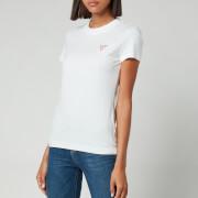 Guess Women's Short Sleeve Crewneck Mini Triangle T-Shirt - Pure White