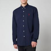 Polo Ralph Lauren Men's Slim Fit Garment Dyed Chino Shirt - Cruise Navy
