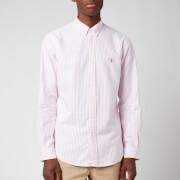 Polo Ralph Lauren Men's Slim Fit Stripe Oxford Shirt - Rose Pink/White