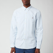 Polo Ralph Lauren Men's Slim Fit Stripe Oxford Shirt - Basic Blue/White