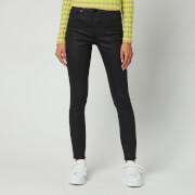 Ted Baker Women's Lethera Wet Look Skinny Jeans - Black