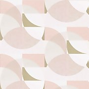 Elle Decoration Geometric Blush Pink White Gold Wallpaper