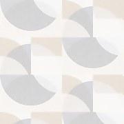 Elle Decoration Geometric Light Grey Beige Wallpaper