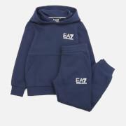 Emporio Armani EA7 Boys' Sporty Core Identity Fleece Tracksuit - Navy