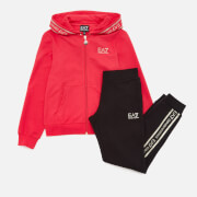 Emporio Armani EA7 Girls' Extended Logo Tracksuit - Rose Red