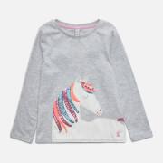 Joules Girls' Ava Long Sleeved T-Shirt - Grey