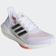 adidas Women's Ultra Boost 21 Running Shoes - Ftwr White/Core Black/Solar Red