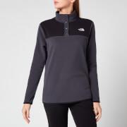 The North Face Women's Glacier Snap-Neck Pullover Sweatshirt - Asphalt Grey/Tnf Black