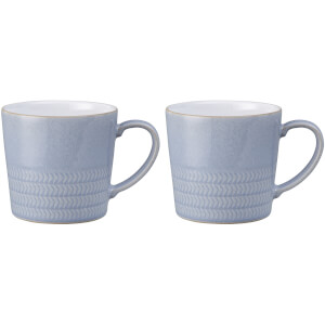 Denby Natural Denim Mugs - 400ml (Set of 2)