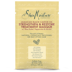 SheaMoisture Jamaican Black Castor Oil Strengthen and Restore Treatment Masque 59ml (Free Gift)