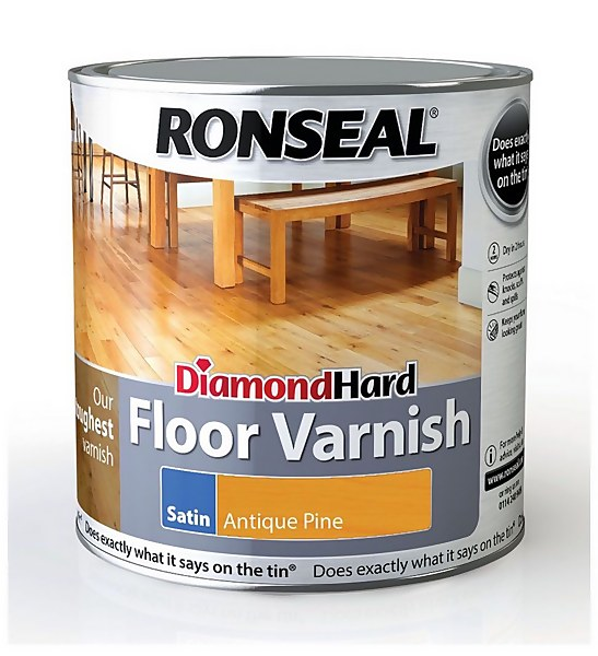Ronseal Diamond Hard Floor Varnish Antique Pine - 2.5L