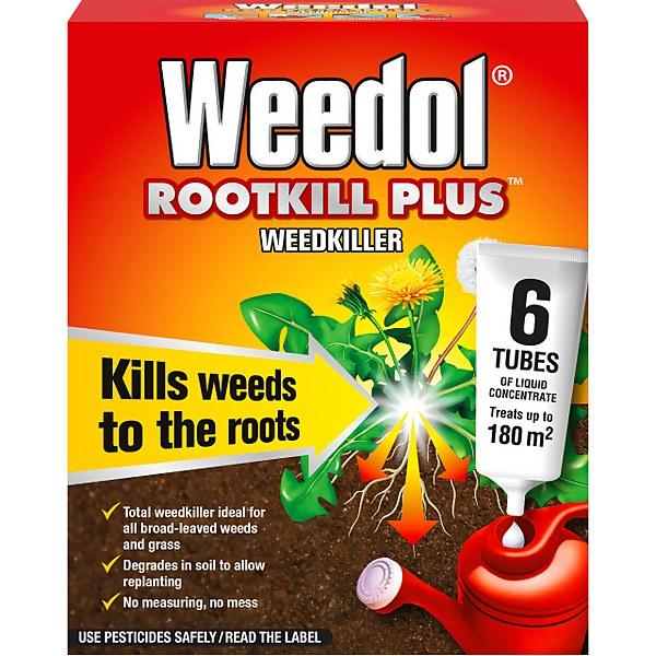 Weedol Rootkill Plus Liquid Concentrate Weedkiller - 6 Tubes
