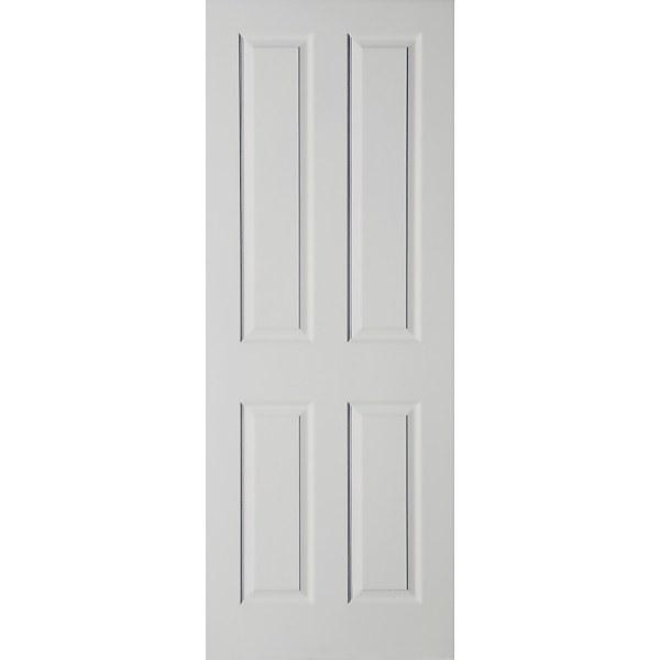 London 4 Panel Primed White Internal Door - 762mm Wide
