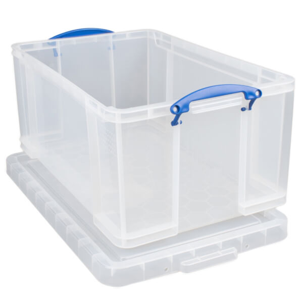 Really Useful Storage Box - Clear - 64L