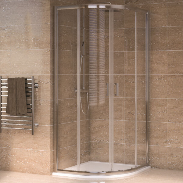 Aqualux Quadrant 900 x 900mm Shower Enclosure and Tray Package