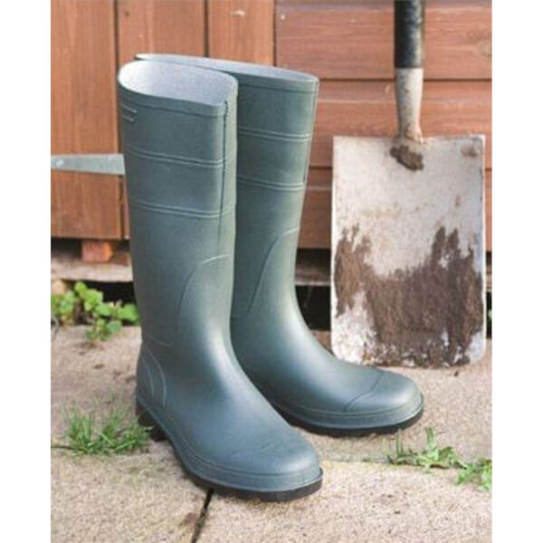 Traditional PVC Boots Size 5 Green