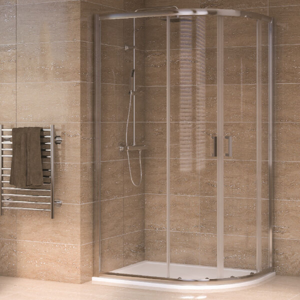 Aqualux Offset Quadrant 1200 x 800mm RH Shower Enclosure and Tray Package