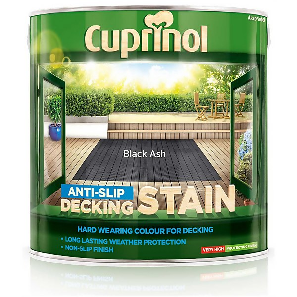 Cuprinol Anti-Slip Decking Stain - Black Ash - 2.5L