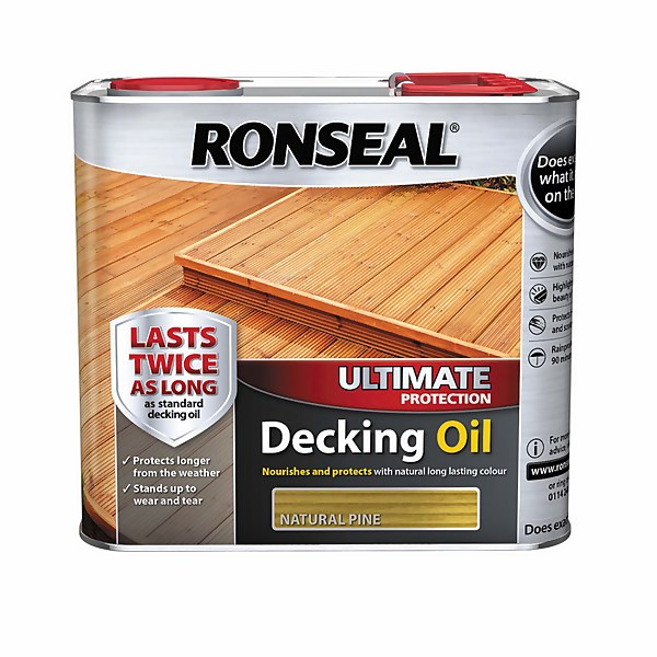 Ronseal Ultimate Protection Decking Oil  Natural Pine  2.5L