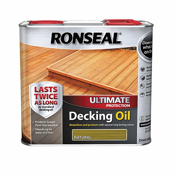Ronseal Ultimate Protection Decking Oil Natural - 2.5L