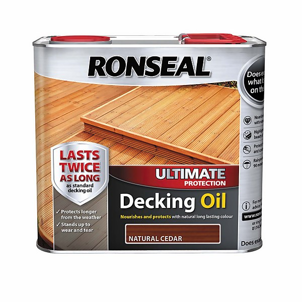 Ronseal Ultimate Protection Decking Oil  Natural Cedar  2.5L