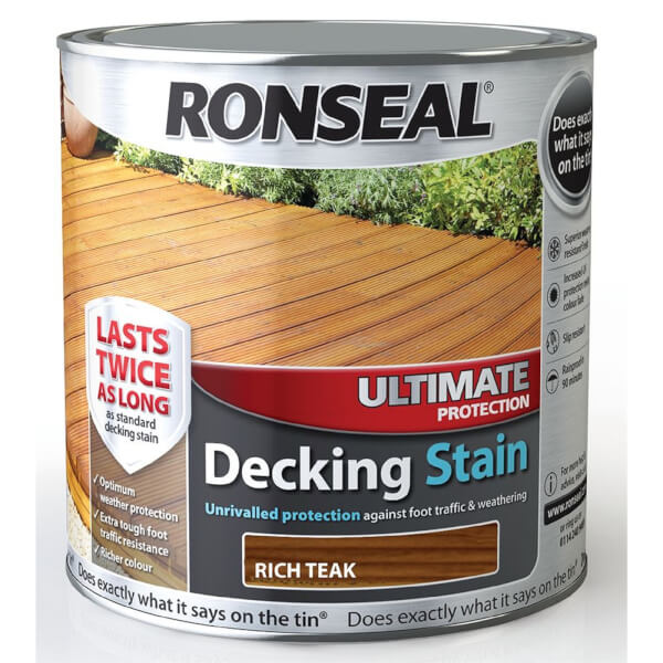 RONSEAL ULT PROTECTION DECK STAIN R.TEAK