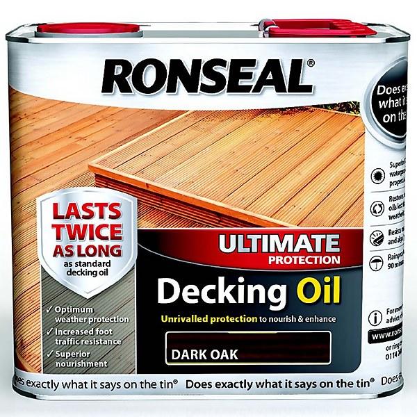 Ronseal Ultimate Protection Decking Oil Dark Oak - 2.5L