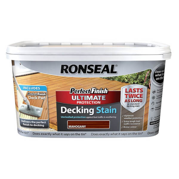 RONSEAL P/F ULT DECKING STAIN MAHOGANY 2